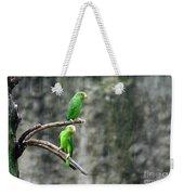 Parrots In The Rain Weekender Tote Bag