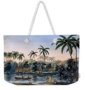 Part Of The Village Of Matavae, Coconut Weekender Tote Bag