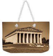 Parthenon In Sepia 3 Weekender Tote Bag
