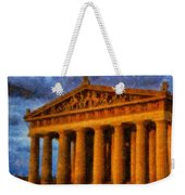 Parthenon On A Stormy Day Weekender Tote Bag
