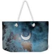 Partial Solar Eclipse In Cloud 1 Oct Weekender Tote Bag