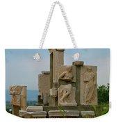 Partially Restored Fountain Of Trajan In Ephesus-turkey Weekender Tote Bag