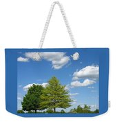 Partly Cloudy Day Weekender Tote Bag