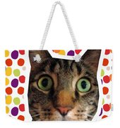 Party Animal - Smaller Cat With Confetti Weekender Tote Bag