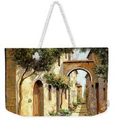 Passando Sotto L'arco Weekender Tote Bag by Guido Borelli