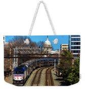 Passenger Metro Train With Us Capitol Weekender Tote Bag