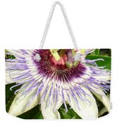 Passiflora Close Up With Garden Background  Weekender Tote Bag