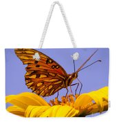 Passion Butterfly On The Mexican Sunflower Weekender Tote Bag