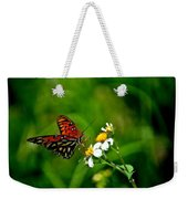 Passion Butterfly Painted Weekender Tote Bag