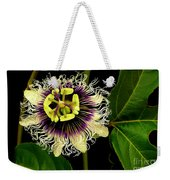 Passion Flower Weekender Tote Bag by James Temple