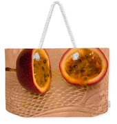 Passion Fruit On Fish Plate 11-3-13 Weekender Tote Bag