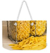 Pasta Shapes Still Life Weekender Tote Bag by Edward Fielding