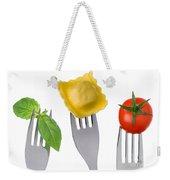 Pasta Tomato And Basil Weekender Tote Bag