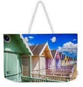 Pastel Beach Huts 3 Weekender Tote Bag