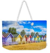 Pastel Beach Huts Weekender Tote Bag by Chris Thaxter