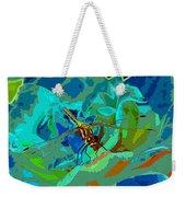 Pastel Dragonfly Rose Weekender Tote Bag