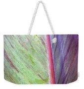 Pastel Leaf Detail Weekender Tote Bag