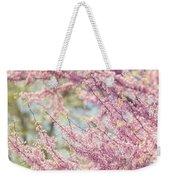 Pastel Pink Flowers Of Redbud Tree In Springtime  Weekender Tote Bag by Lisa Russo