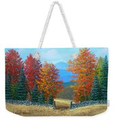 Pasture Gate In Autumn Weekender Tote Bag