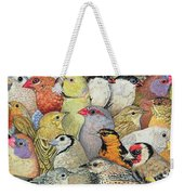 Patchwork Birds Weekender Tote Bag