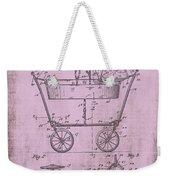 Patent Art Mahr Baby Carriage 1922 Pink Weekender Tote Bag