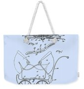 Patent Art Robinson Baby Carriage Blue Weekender Tote Bag