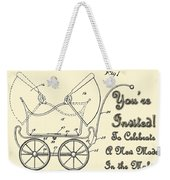 Patent Art Robinson Baby Carriage Invite Yellow Weekender Tote Bag