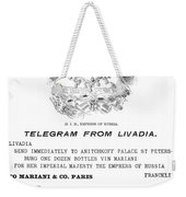 Patent Medicine, 1894 Weekender Tote Bag