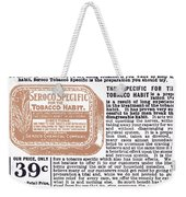 Patent Medicine Ad, 1890s Weekender Tote Bag