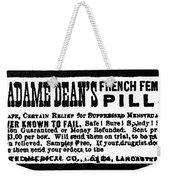 Patent Medicine, C1880 Weekender Tote Bag