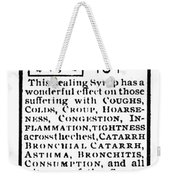 Patent Medicine, C1900 Weekender Tote Bag