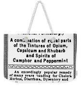 Patent Medicine: Opium Weekender Tote Bag