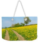 Path In Dandelion Meadow  Weekender Tote Bag