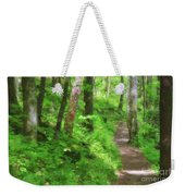 Path In The Forest Weekender Tote Bag by Jill Lang