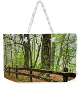 Path Into The Forest Weekender Tote Bag by Debra and Dave Vanderlaan