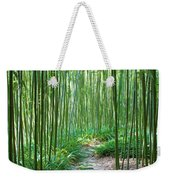 Path Through Bamboo Forest Weekender Tote Bag
