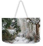 Path Through The Snow Weekender Tote Bag