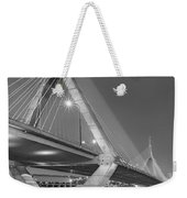 Path To The Leonard P. Zakim Bridge Bw Weekender Tote Bag