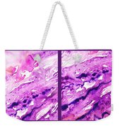 Path To The Unknown Diptych In Purple Weekender Tote Bag