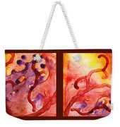 Path To The Unknown Warm Diptych  Weekender Tote Bag