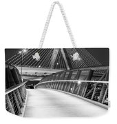Path To The Zakim Bridge Bw Weekender Tote Bag