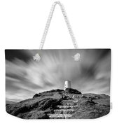 Path To Twr Mawr Lighthouse Weekender Tote Bag by Dave Bowman