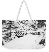 Pathway Through The Snow Weekender Tote Bag