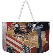 Patriot Bear Weekender Tote Bag by Sharon Elliott