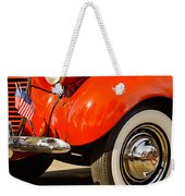 Patriotic Car Weekender Tote Bag