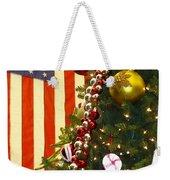 Patriotic Christmas Weekender Tote Bag