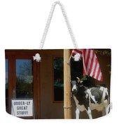 Patriotic Cow Cave Creek Arizona 2004 Weekender Tote Bag