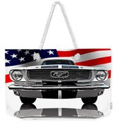 Patriotic Ford Mustang 1966 Weekender Tote Bag