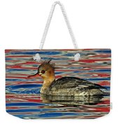 Patriotic Merganser Weekender Tote Bag