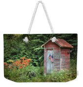 Patriotic Outhouse Weekender Tote Bag